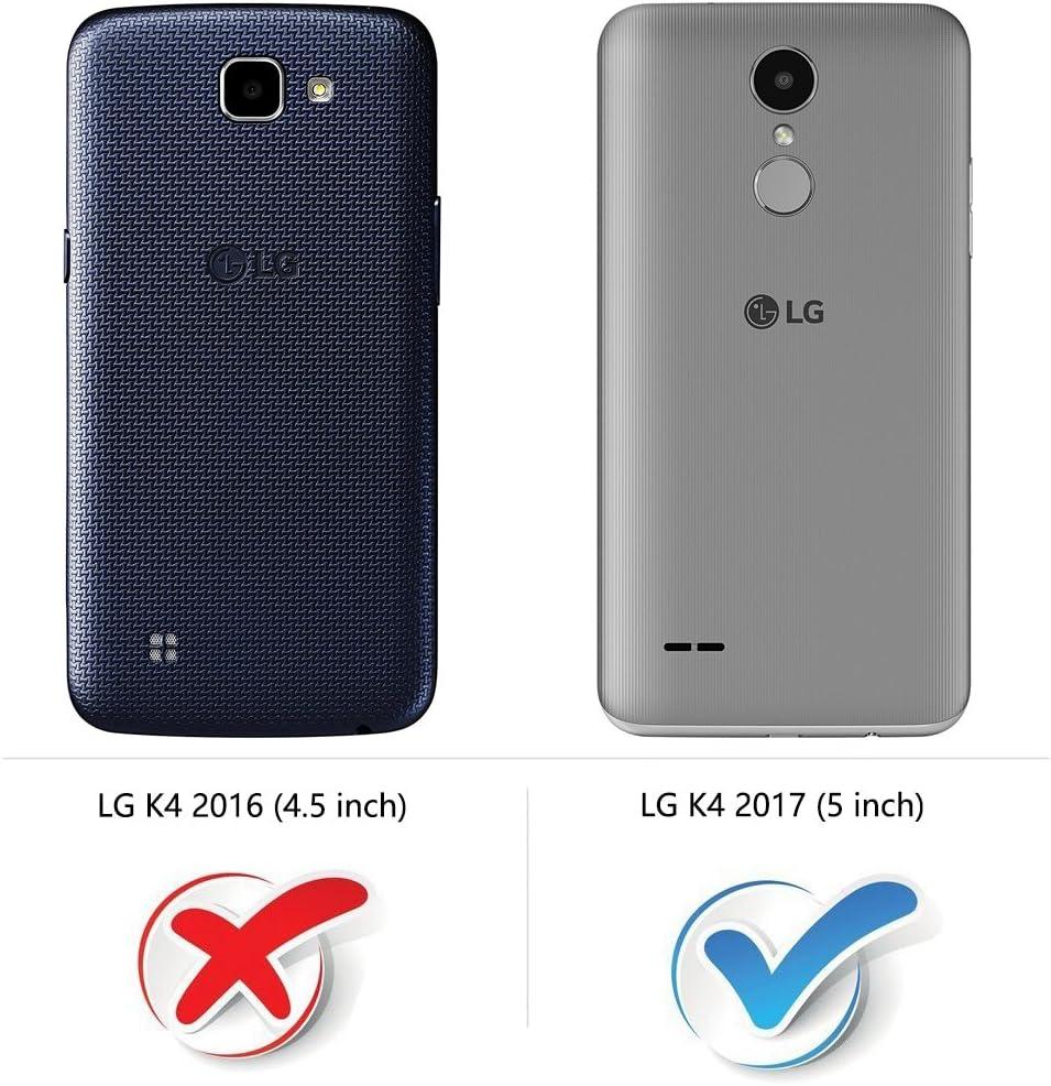 COODIO Funda LG K4 2017 con Tapa, Funda Movil LG K4 2017, Funda ...
