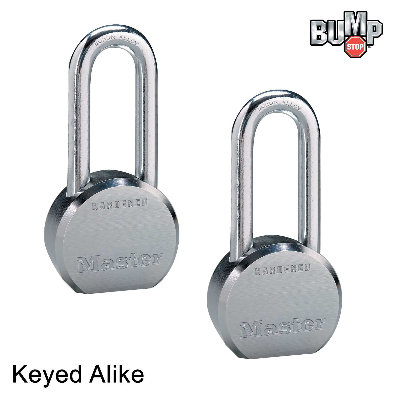 Master Lock - (2 High Security Pro Series Keyed Alike Padlocks 6230NKALH-2 w/BumpStop Technology