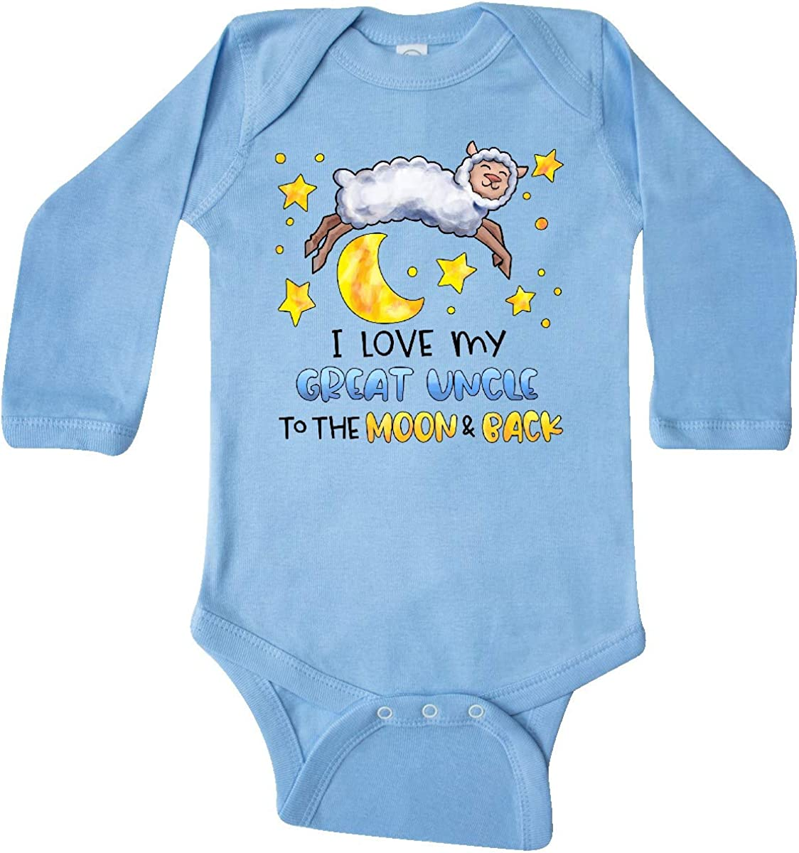inktastic I Love My Great Uncle to The Moon and Back Cute Long Sleeve Creeper