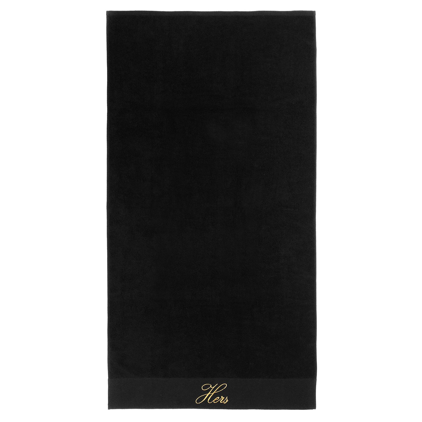 Kaufman - Terry Cloth Bathrobes 100% Cotton - His and Hers Embroidered Velour Shawl Set of Robes with His and Hers Black Towel Set 30''x58'' 4-PK by Ben Kaufman Sales (Image #4)