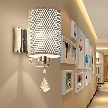 Maniny Moderne Kristall-Nachttisch-Wand-Lampe Kreative Dachboden ...
