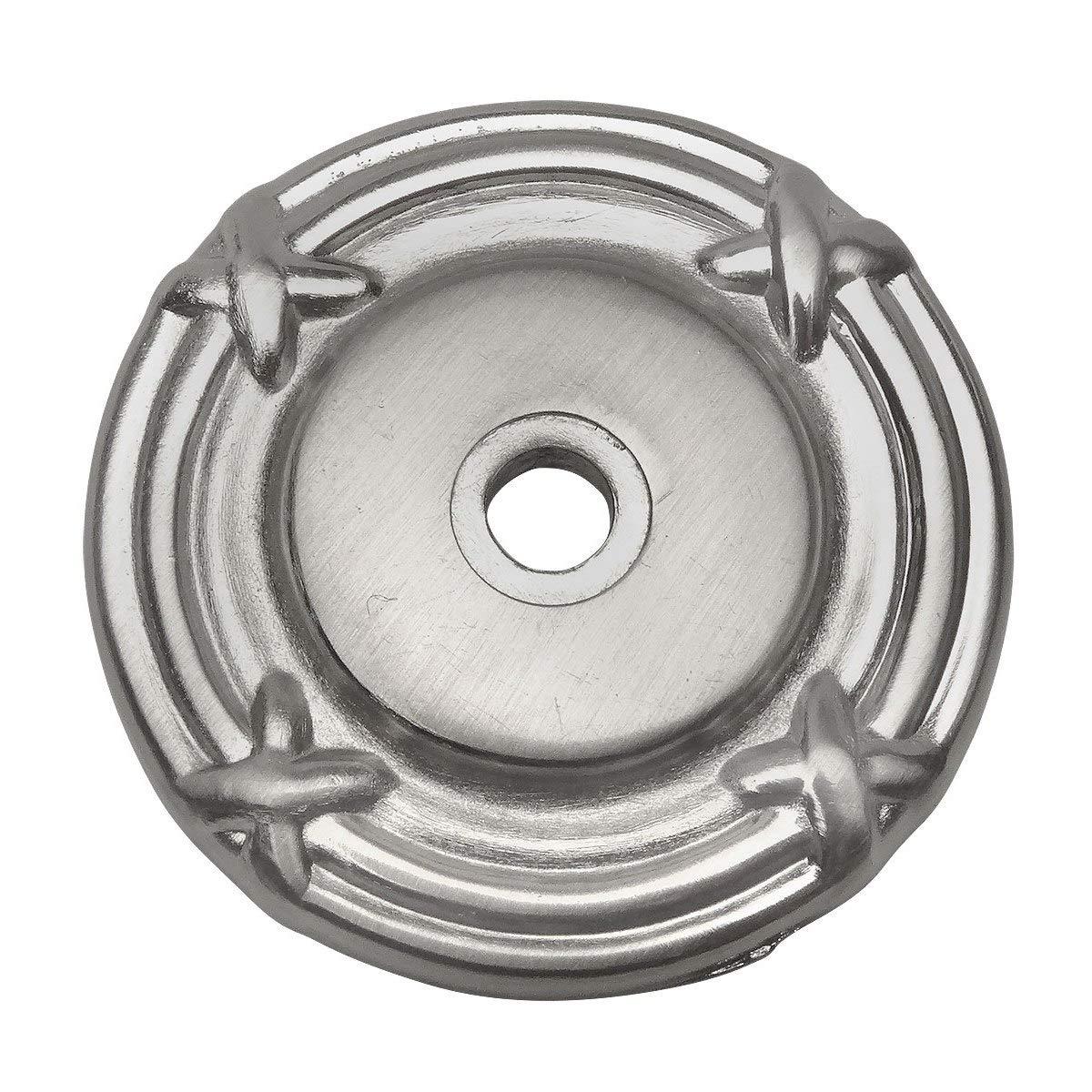 25 Pack - Cosmas 9468SN Satin Nickel Cabinet Hardware Knob Backplate/Back Plate