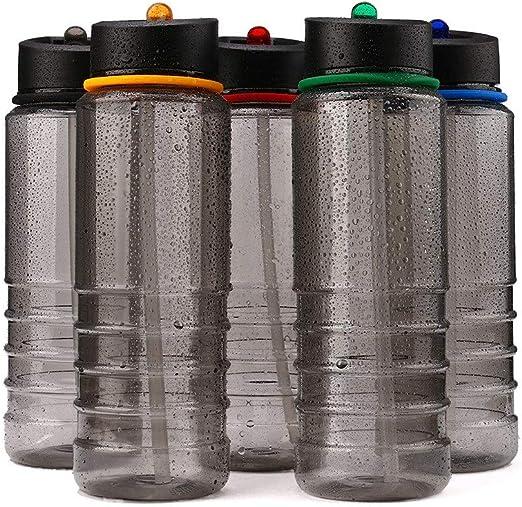 800ml Water Drinking Bottle Hiking Hydration Running Cycling Flip Outdoor Sport