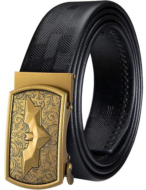 Amazon.com: Barry.Wang - Cinturón de trinquete para hombre ...