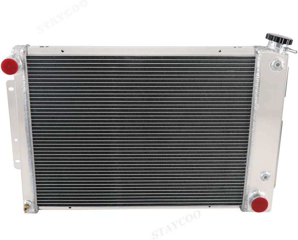 STAYCOO 3 Row Aluminum Radiator Fan Shroud Combo /&Thermostat Relay Kit for 1967-1969 Chevy Camaro//Firebird /&Big Block