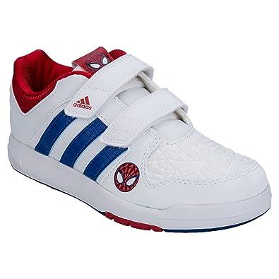 83e16738d03842 adidas Boys Children Boys LK Spider Man Trainers in White - UK 1.5 ...