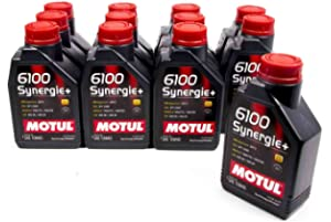 Motul 102781-12 6100 Synergie 10W-40 Oil, (Case of 12)