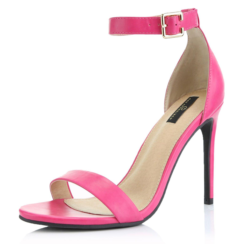 bbb0865b4c0e4 Amazon.com | Women's High Heel Open Toe Ankle Buckle Strap Platform ...