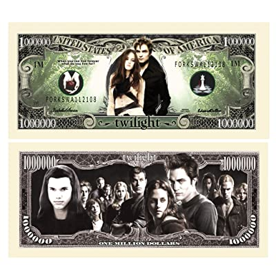 Twilight $Million Dollar$ Novelty Bill Collectible: Toys & Games