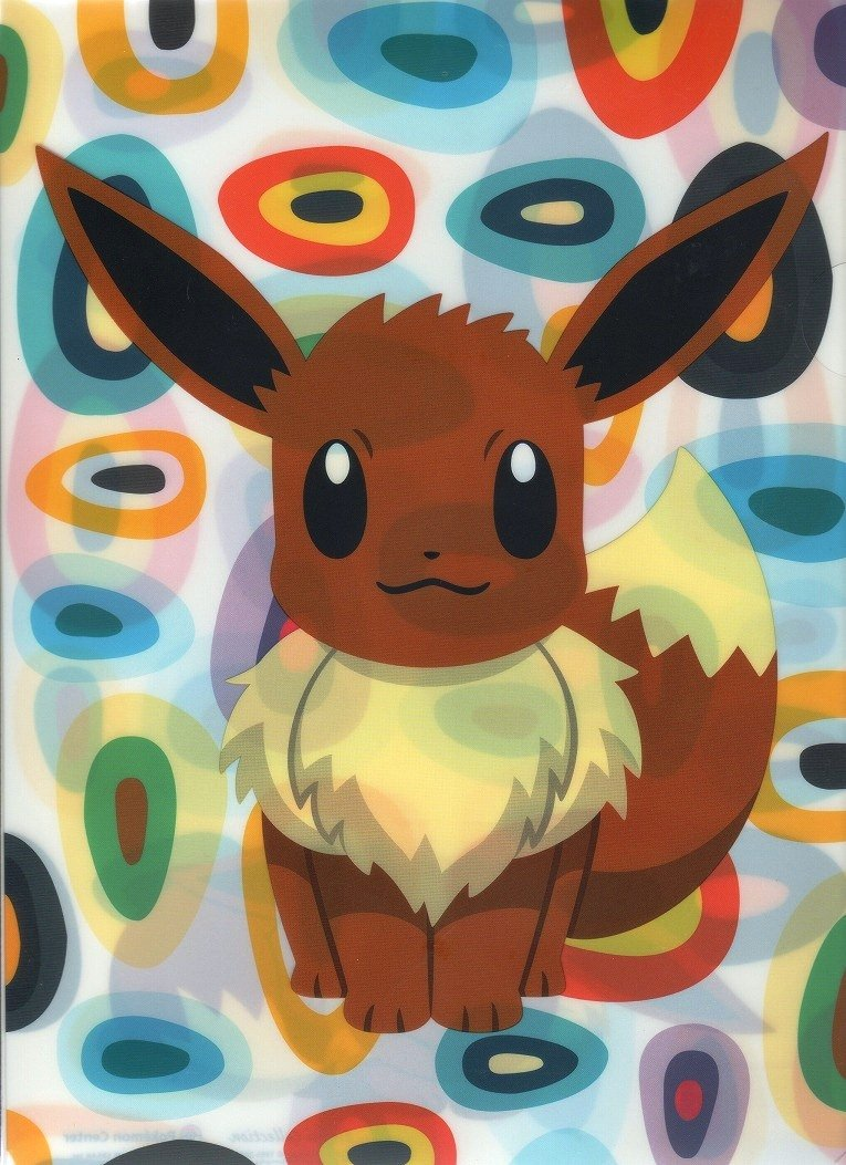 Pokemon Center Eevee original collection A4 clear file [Eevee] (japan import)