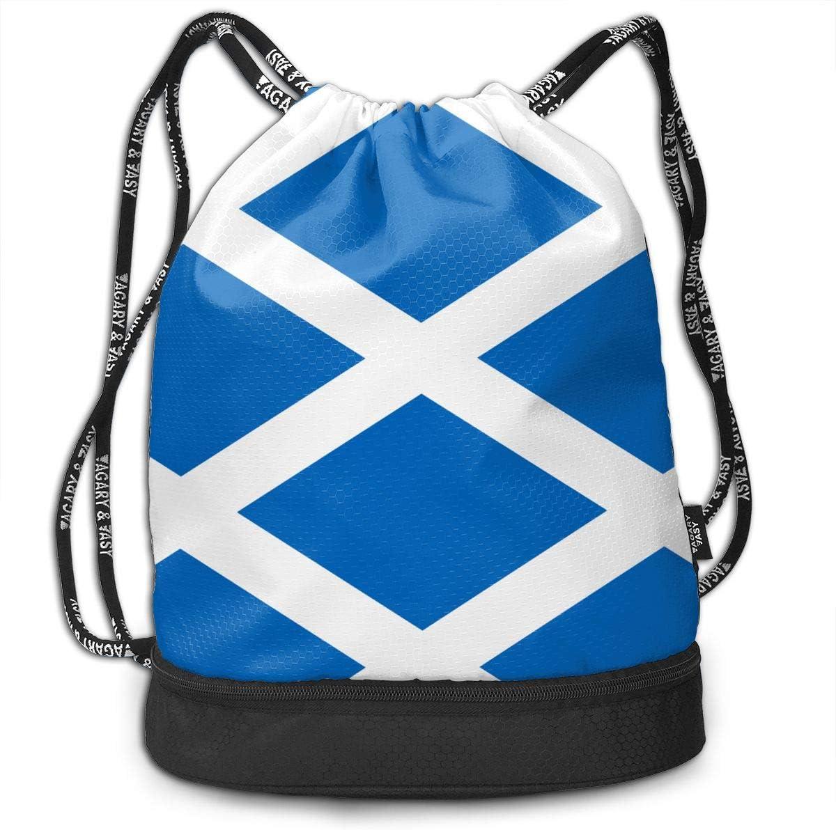 Drawstring Backpack Scottish Flag Shoulder Bags