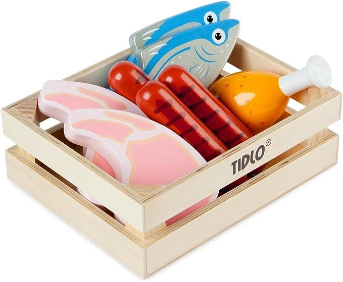 Pinolino Marktstand Lucy - Tidlo Holz Fleisch- und Fischset
