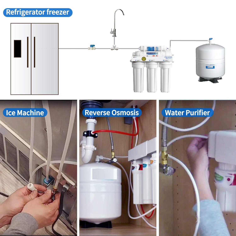 Tubo de agua para nevera con kit de accesorios de conector ...