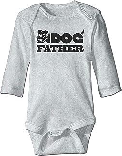 Unisex Toddler Bodysuits Dog Father Baby Babysuit Long Sleeve Jumpsuit Sunsuit Outfit Ash