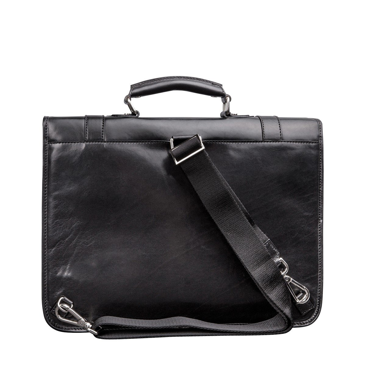 Maxwell Scott Mens Black Leather Backpack Briefcase (Micheli) by Maxwell Scott Bags (Image #4)