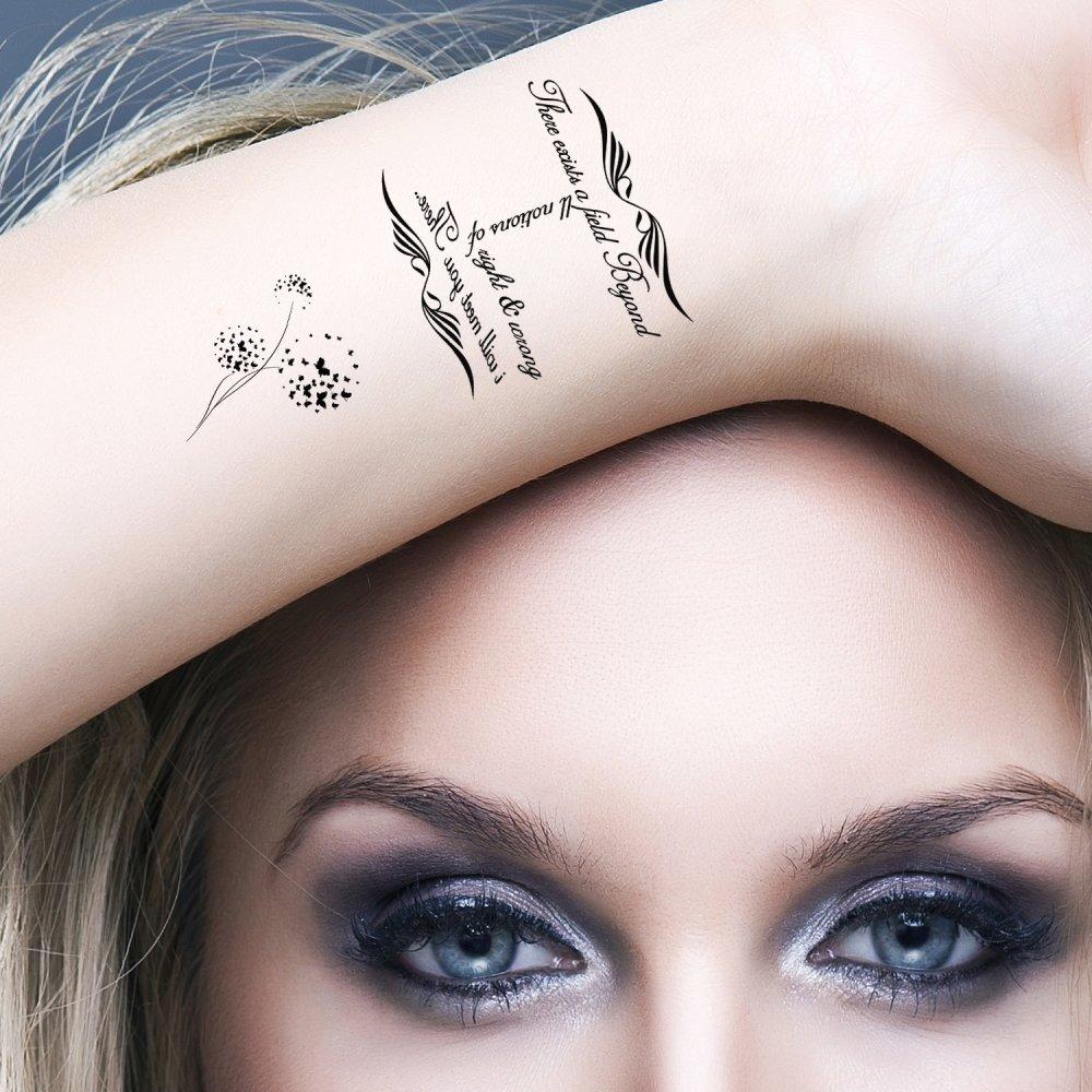 Amazon.com : Bling Art Temporary Tattoos Black Infinity Tribal Set ...