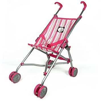 Amazon.es: The New York Doll Collection S9302 Viajes Pink Doll Stroller Rosa: Juguetes y juegos
