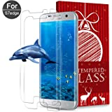 XUZOU Samsung Galaxy S7 Edge Tempered Glass Screen Protector, [Touch Agile 3D Glass][Anti-scratch][Easy to Install] [9H Hardness] [HD Clear] [Bubble Free] for Galaxy S7 Edge (2 pack)