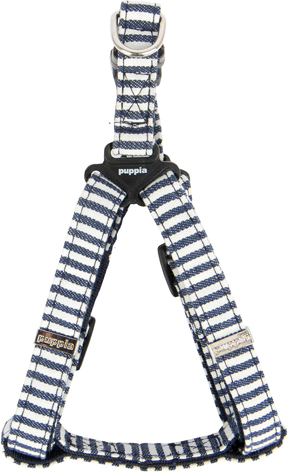 Dog Puppy Harness Striped Navy Bobby Puppia Choose Size