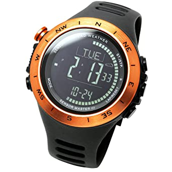 Lad Weather Sensor Watch Altimeter Barometer Compass Climbing Trekking  Camping Sports Outdoor Swiss Made Sensor