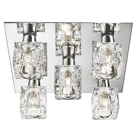 Lights4Living - Lámpara de techo (5 luces, base cromada ...
