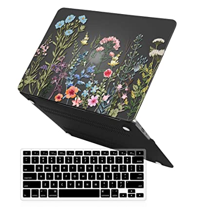 MacBook Air 13 Inch Case, iCasso Art Printing Hard Case with Keyboard Cover Only Compatible Older MacBook Air 13 (Models: A1369 / A1466, Older Version ...