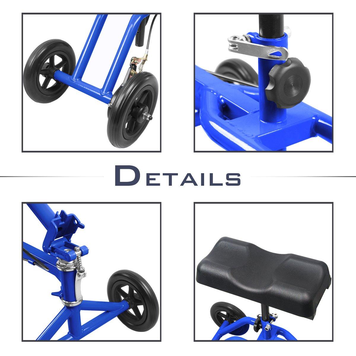 Amazon.com: Orientable Rolling – Andador de rodilla Muleta ...