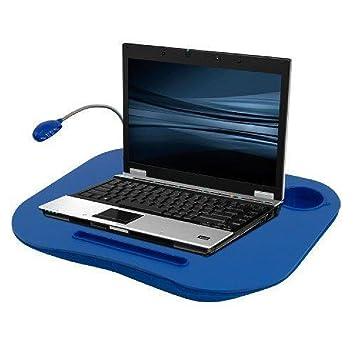 Phumon567 Regazo Escritorio Cup Holder Luz Azul Cama Soporte Ordenador portátil Trabajo Portátil Mesa de Lectura portátil: Amazon.es: Hogar