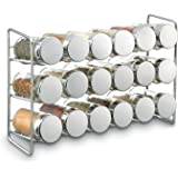Polder 18-Jar Compact Spice Rack, Silver
