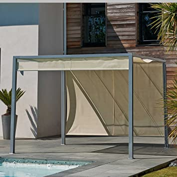 PERGOLA Sun design aluminium Garden Gazebo 3 x 3 m: Amazon.co.uk ...