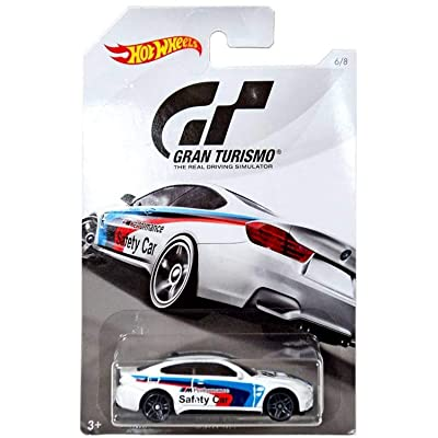 Hot Wheels BMW M4 2020 GRAN TURISMO Series #2 White BMW M4 1:64 Scale Collectible Die Cast Metal Toy Car Model #6/8: Toys & Games