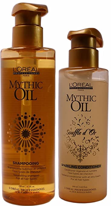 eb9a672ca L'Oréal Mythic Oil Souffle D'or Sparkling Conditioner 6.42 Ounce, and  Nourishing