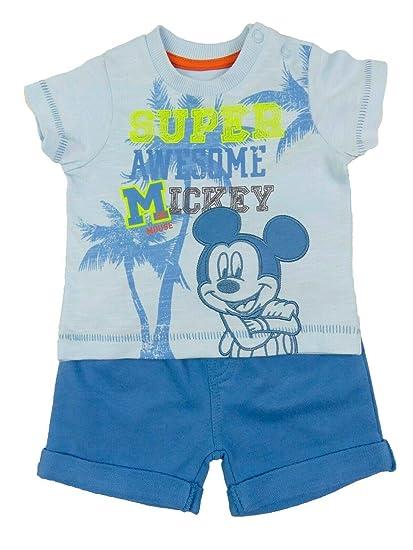 Camiseta oficial de Disney Baby Mickey Mouse Bordado y pantalón ...