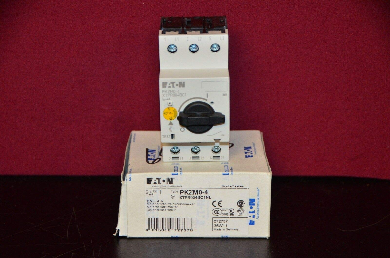 labtechsales Eaton PKZM0-4 Thermal Magnetic Circuit Breaker Motor Protection xStart 690V 4A