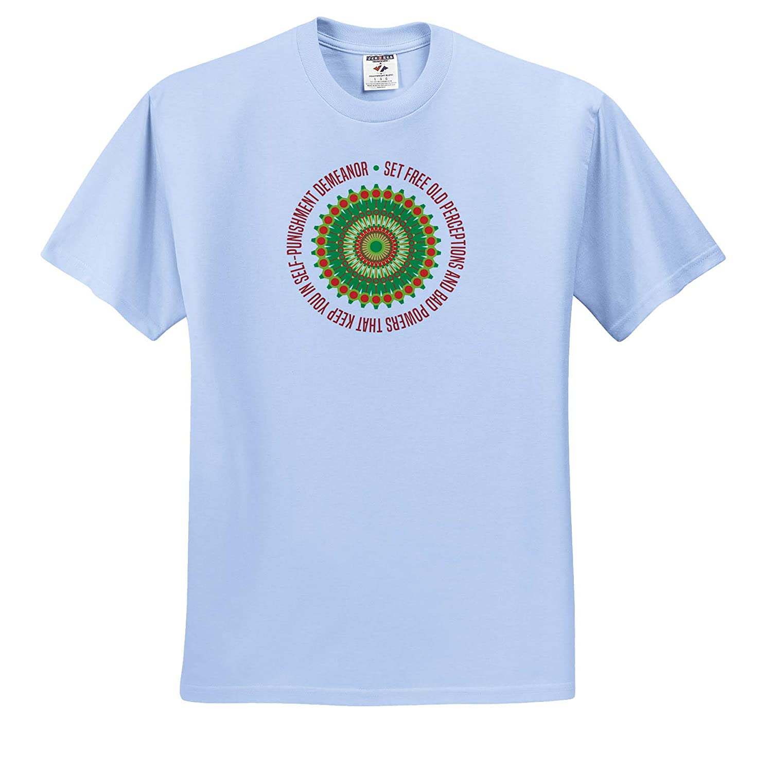 Around it Motivational and 12 Steps 3dRose Alexis Design T-Shirts Colorful Mandala and a Text Set Free Old perceptions