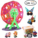 Magnetic Blocks,141-Piece Multi Colors Magnetic Building Blocks Set Educational Toy for Kids Gift