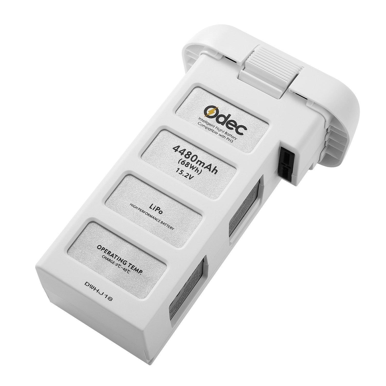 Odec DJI Phantom 3 Battery, Flight Battery for Phantom 3 Standard, Advanced , SE, Professional, 4K Drone 15.2V 4480mAh LiPo Battery Pack - Upgraded OP-538