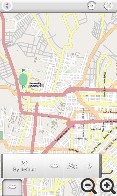 Amazon com: Asmara, Eritrea Satellite Navigation - Smart