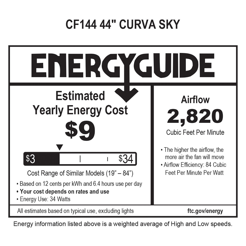 """Emerson CF144GRT 44"""" Curva Sky Graphite Inch"""