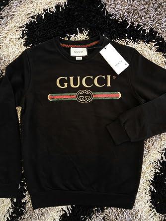 1ab916801 Gucci Mane Long Sleeve T-Shirt - Black - S: Amazon.co.uk: Clothing