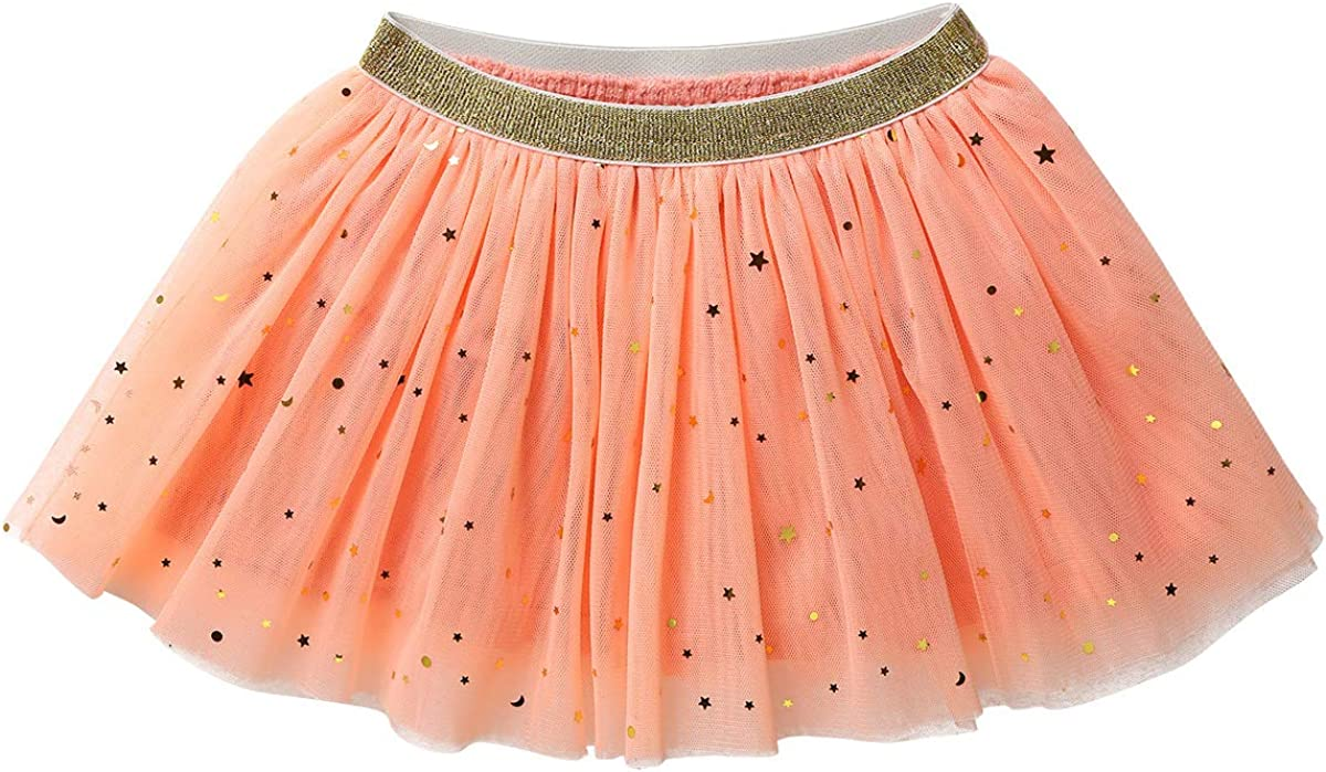 CHICTRY Toddler Baby Girls Sparkle Sequint Tutu Skirt 4 Layers Elastic Puffy Princess Party Dress up