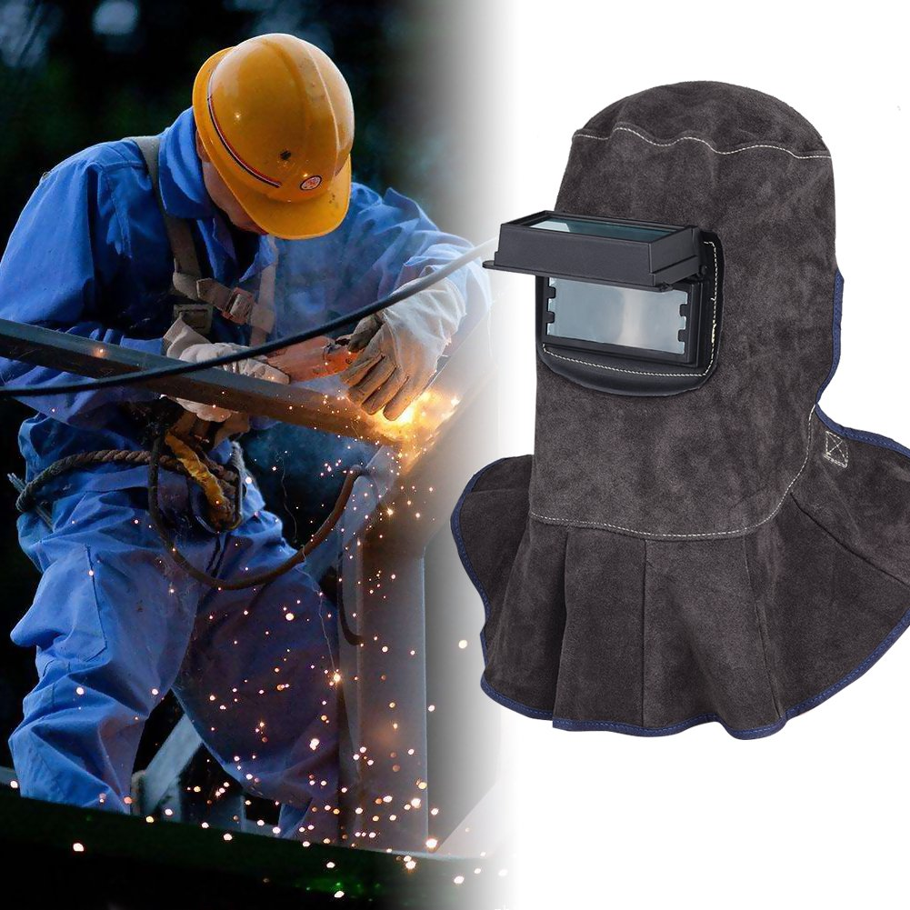 TOOLTOO Leather Welding Hood - 3 in 1 Welding Helmet Face Mask by TOOLTOO (Image #6)
