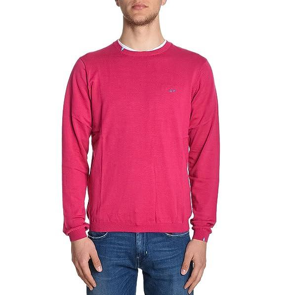 Abbigliamento Sun it Cotone Amazon 1714920 68 Maglione Uomo Fucsia 8rq8Az6