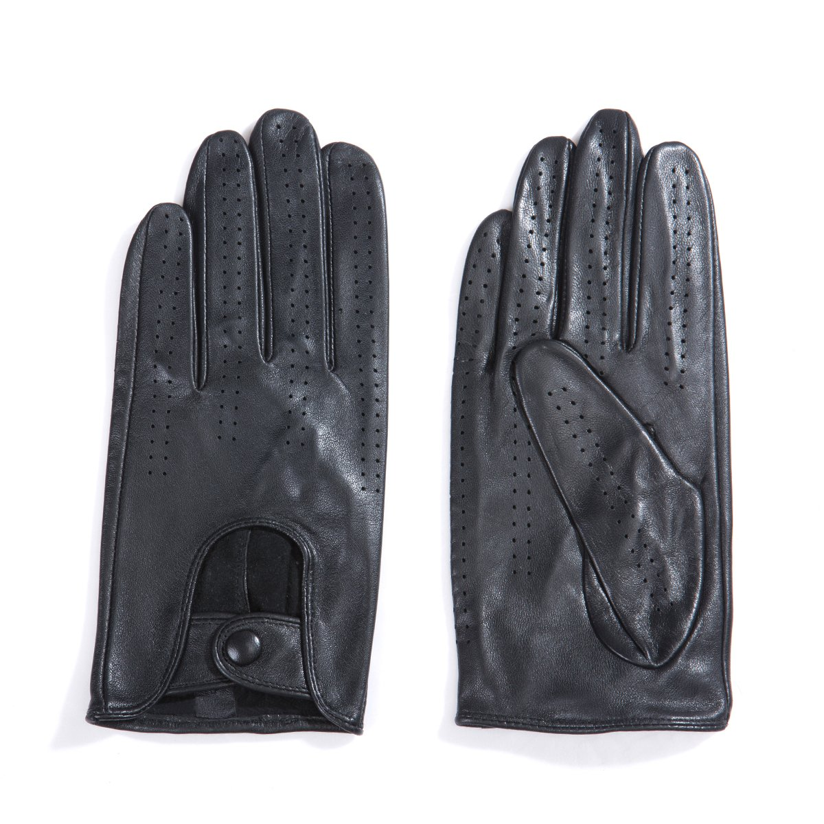 MATSU Classic Women Driving Touchscreen Lambskin Leather Gloves Available for Rivets DIY #9237 (XL, Black) by Matsu Gloves (Image #7)
