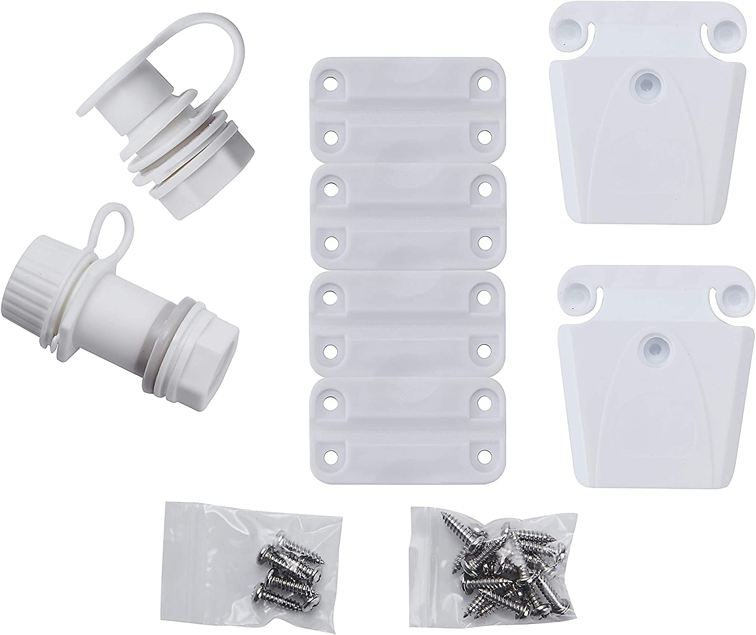 GETIT Igloo Cooler Replacement Parts Kit for Ice Chest,Plastic Hinges,Drain Plug,Latches and Latch Posts