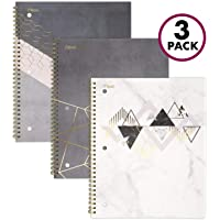 Mead Spiral Notebook, 1 Subject, College Ruled Paper, 100 Sheets, Botanical Boutique, 3 Pack (38196)