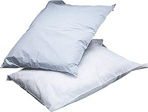 "Medline NON24345 Disposable Tissue/Poly Pillowcases, 21"" x 30"", White (Pack of 100)"