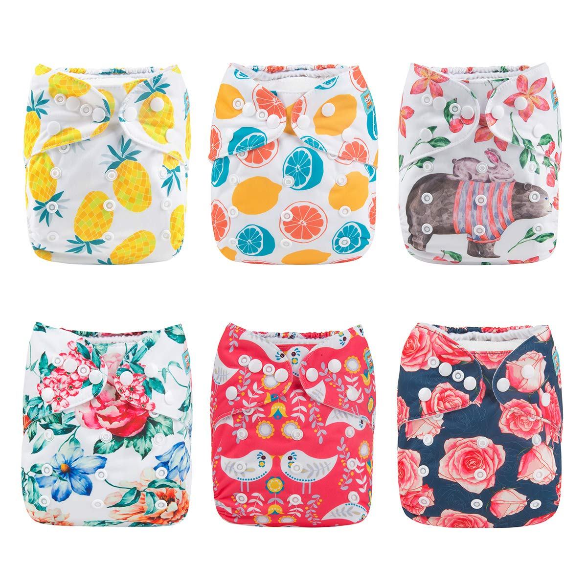 Reusable Baby Nappies Diapers Cloth Insert Adjustable Washable Pocket Newborn RU