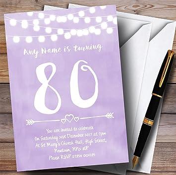 Amazon 10 X Purple Lilac Lights 80th Customized Birthday Party