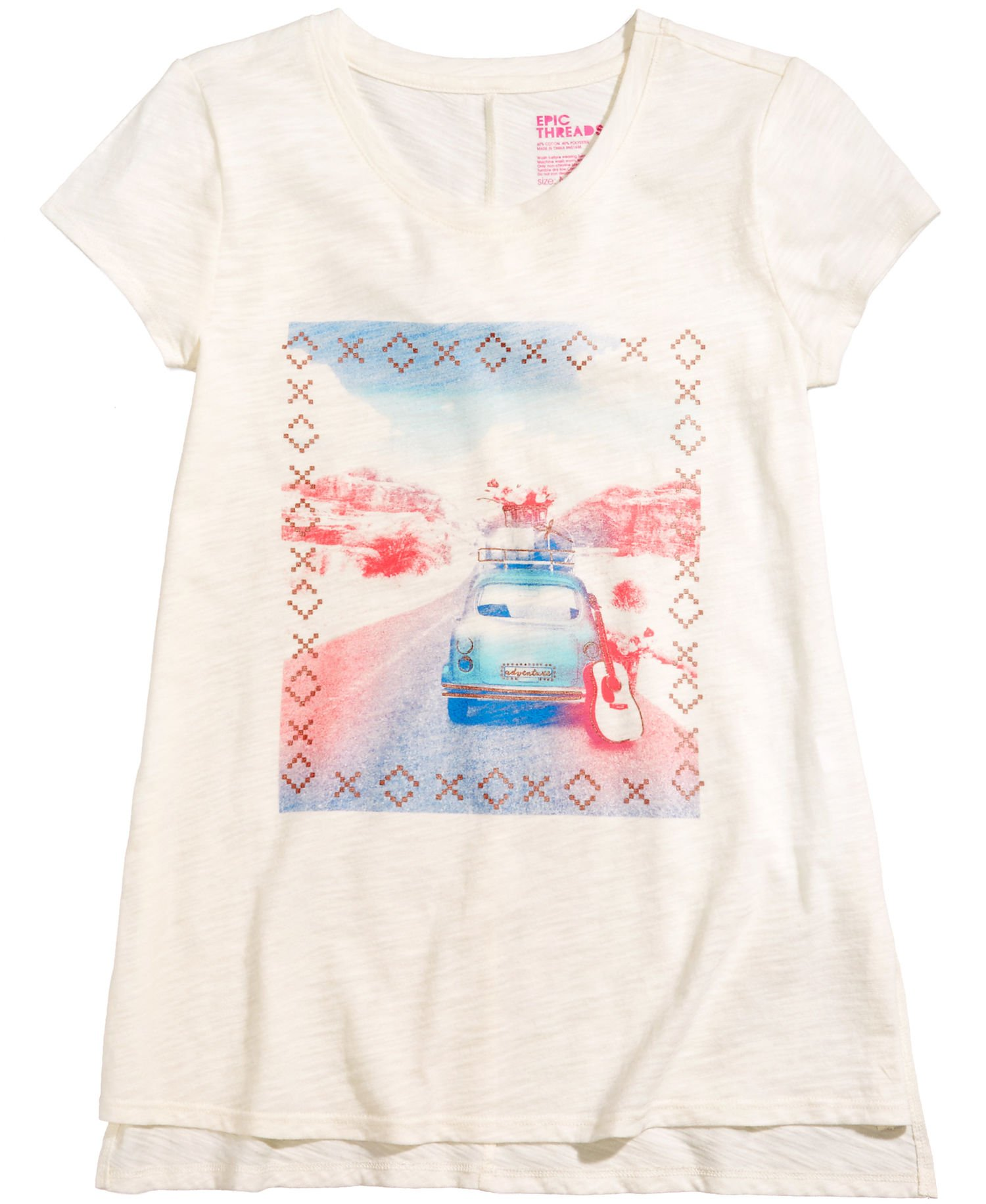 Epic Threads Girls T-Shirt Tee Shirt (Small, Holiday Ivory)